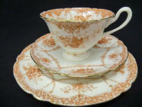 A WILEMAN gainsborough shape tea trio